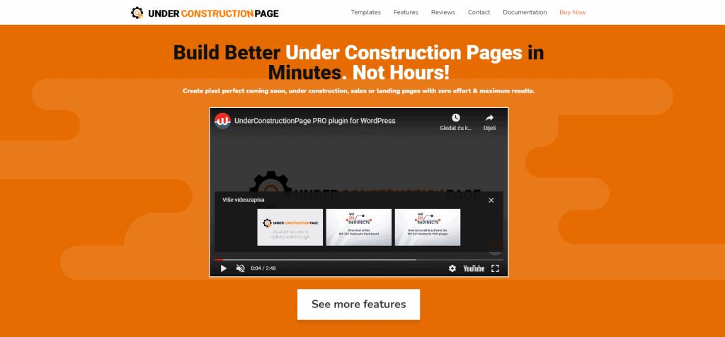 UnderConstructionPage homepage