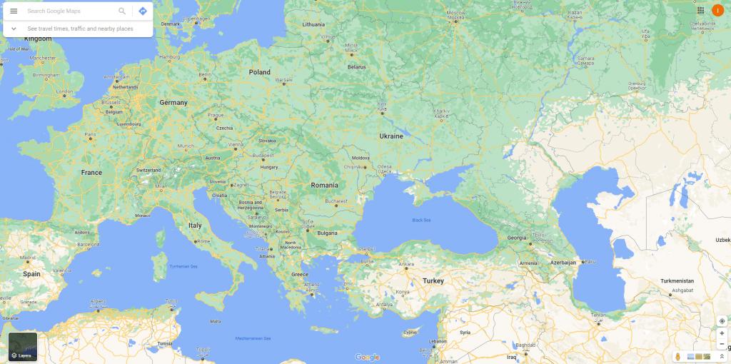 Google Maps website